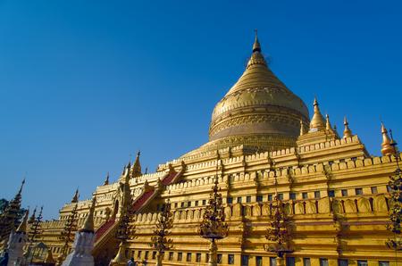 Shwezigon pagoda  Bagan  Myanmar   photo