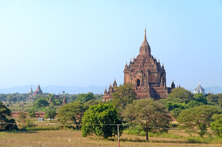 Stupas and pagodas of Bagan ancient  Myanmar