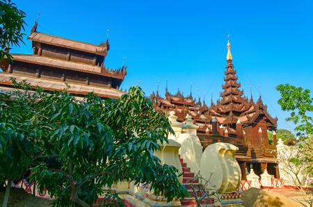 Shwe Inbin Abbey. Mandalay. Myanmar.