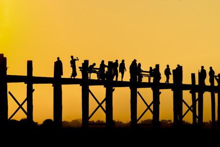 U Bein bridge. Mandalay. Myanmar. 写真素材