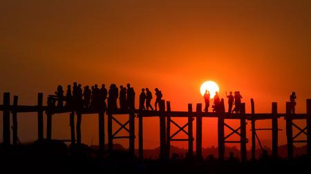 U Bein bridge, Mandalay, Myanmar.