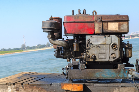 Outboard engine.