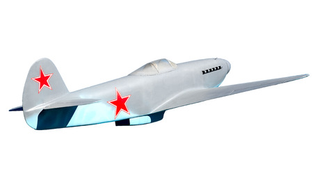 Soviet military fighter Yak-3 (mock). Isolated on white