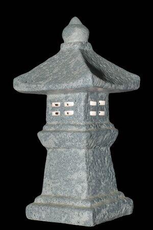 Japanese lantern. Toro. Isolated on black