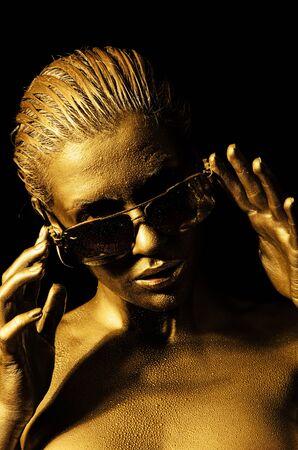 Golden lady Stockfoto