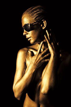 Golden lady Stock Photo