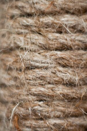 spiral from hard strong hemp material hord