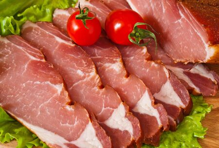 cut meat delicious with tomato