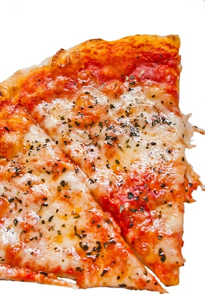 pizza with on white background photo