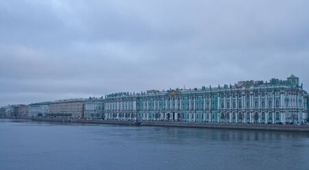 neva: embankment the river Neva with Hermitage