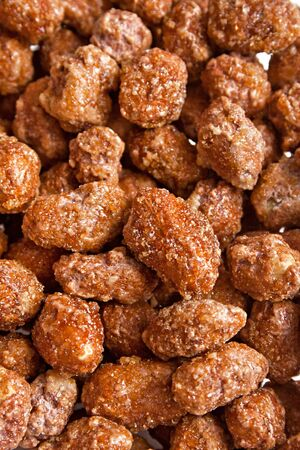 roast nuts with sugar cover Stock Photo