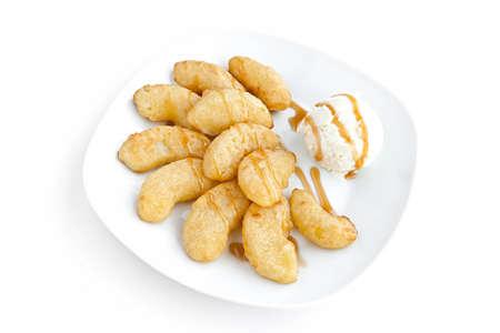 manzanas fritas y helados de caramelo Foto de archivo - 12525458