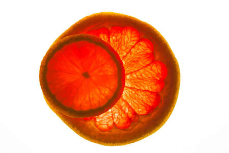 citrus maxima: any colored citrus sliced on round