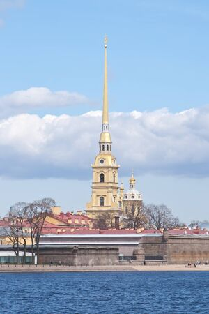 synod: hisorical cathedral peterpau fortress in city Sankt-Peterburg