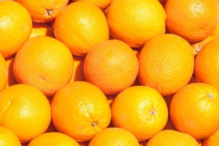 orange slice: veel verse rauwe oranje Stockfoto