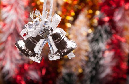 handbell: light Decorated Christmas Garland with handbell