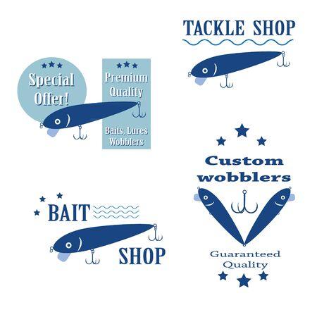 wobbler: set design concepts bait wobbler for fishing tackle shop