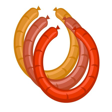 sausages: vector sausages in bright colors