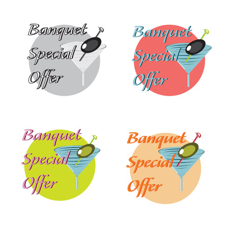vector design icon and concept for restaurant food service with special offer Vector