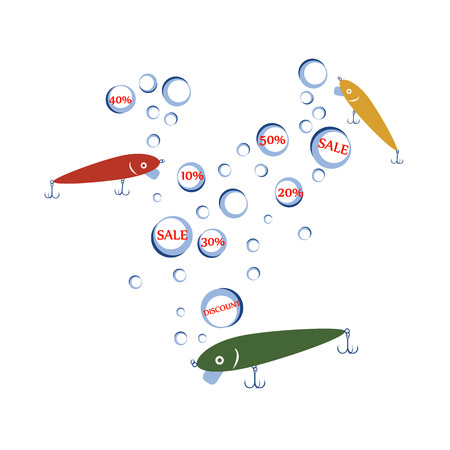 fishhook: vector design concepts with bait wobbler for sale fishing tackle shop