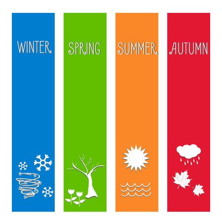 furtree: vector illustration Set four seasons symbol Weather for print calendar, web design