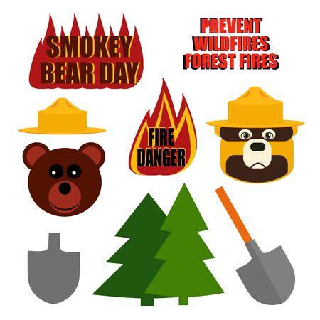 set of Smoked bear day