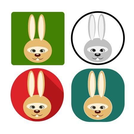 muzzle: Illustration set of muzzle rabbit