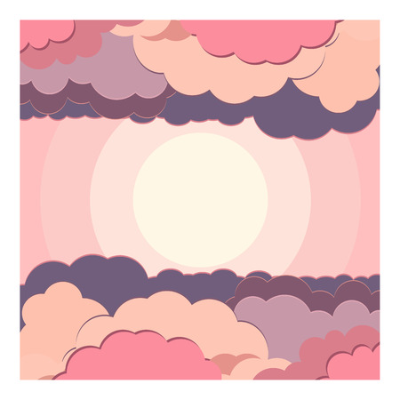 nuance: illustration background of water and cloud