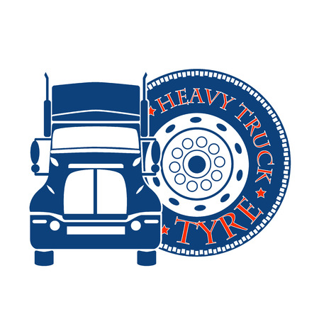 inter: vector illustration design hevy truck automobile service for trade or tire buisness Illustration