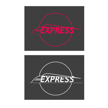 treno espresso: vettore silhouette espresso moderno treno su sfondo grigio Vettoriali