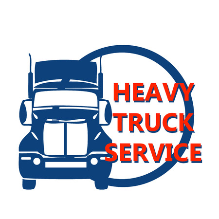 inter: vector illustration design banner for hevy truck automobile business, trade service