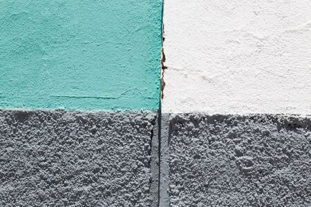 Beton: background of painted beton wall with gray, green and white colors Stock Photo