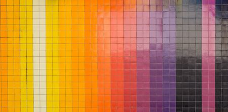 tiling: vertical colorful tiling wall of the city. Creative colors for background or design.