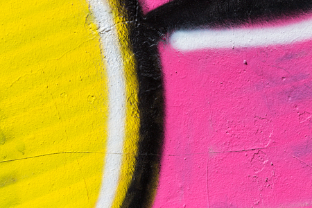 vandal: Closeup abstract painted wall of the city. Street art graffiti creative colors urban culture.