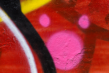 flashy: Closeup abstract painted wall of the city. Street art graffiti creative colors urban culture.