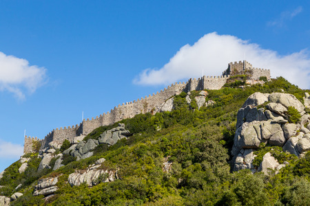 moors: old Castle of the Moors in Sintra, Portugal.