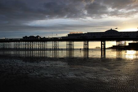 clody sky: Brighton pier and sunset