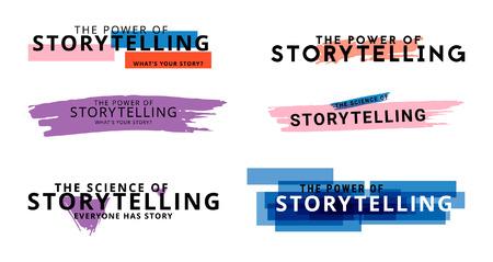 Verhalenset. Eenvoudig logo. Vector illustratie.