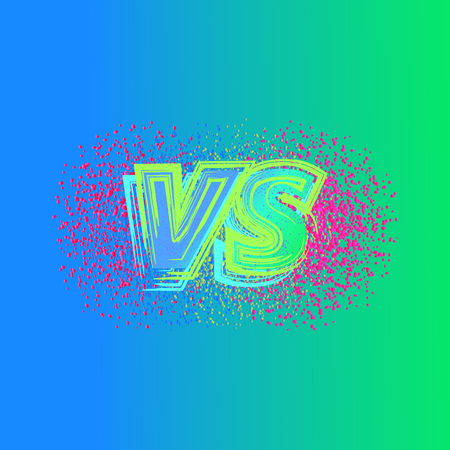 Versus sign on colorful background Vector illustration.