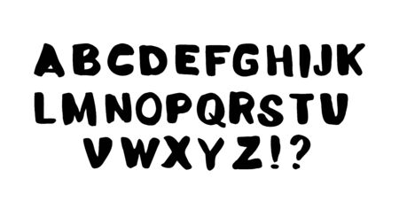 Set of doodle letters for inscriptions. Vector illustration of an alphabet.
