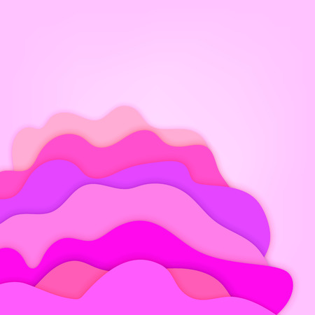 3D papercut color background. Multi layers effect texture. Vector illustration.
