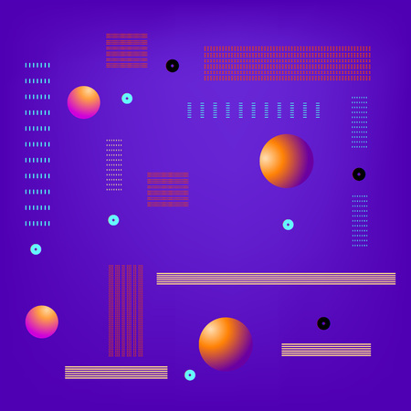 Background with geometric shapes. Minimalistic cover design. Template for graphic design — banner, poster, flyer, brochure, card. Vector illustration.