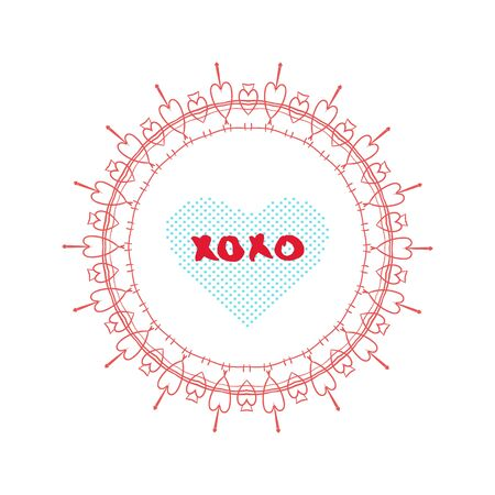 Xoxo Text With Decorative Frame Element For Valentines Day