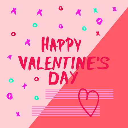 Happy Valentines Day Phrase. Handwritten Element for Graphic Design - Banner, Poster, Flyer, Brochure, Card. Vector Illustration. Illustration