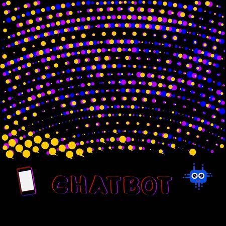 Chat bot robot virtual assistance. Chatbot concept. Vector illustration.