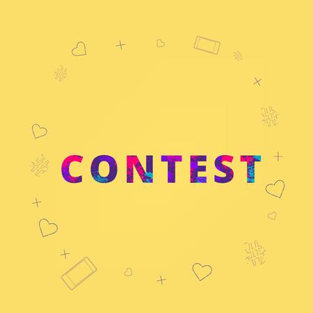 Contest lettering. Element for graphic design - poster, flyer, brochure, card. Template for social media. Vector Illustration. Stock fotó - 95816556