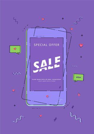 Sale banner. Element for graphic design