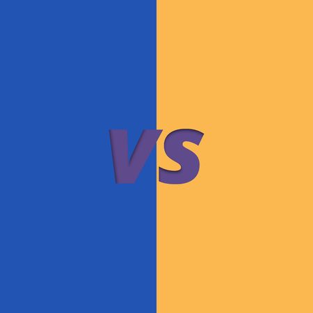 Versus banner. VS screen. Element for graphic design - ad, poster, flyer, tag, coupon, invitation card. Vector illustration.