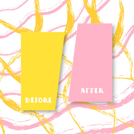 Template background before and after. Vector illustration. Illustration