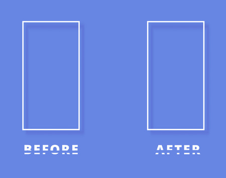 before and after template background vector illustration royalty